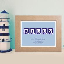 Boy's Name Print in Block Letters - New Baby or Christening Gift